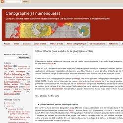 Utiliser Khartis dans le cadre de la géographie scolaire