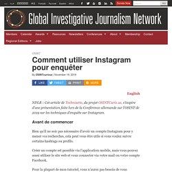 Comment utiliser Instagram pour enquêter