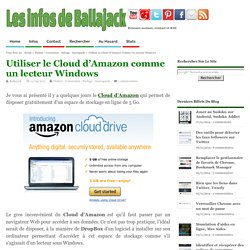 Utiliser le Cloud d'Amazon comme un lecteur Windows