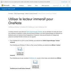 Utiliser le lecteur immersif pour OneNote - Support Office