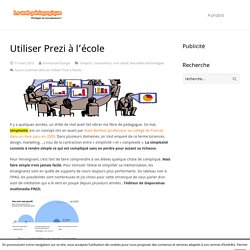 Utiliser Prezi à l'école - LeWebPédagogique