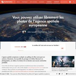 Vous pouvez utiliser librement les photos de l'agence spatiale européenne - Sciences
