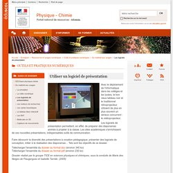 Utiliser un logiciel de présentation-Physique-Chimie-Éduscol