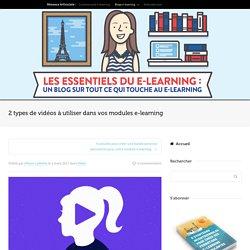 Types de vidéos à utiliser dans vos modules e-learning