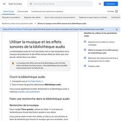 Bibliothèque audio YouTube