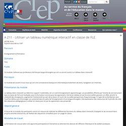 A 211 - Utiliser un tableau numérique interactif en classe de FLE