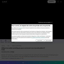 Utiliser les outils numériques pour concevoir une nouvelle pièce (7 mai) - Vidéo Techno