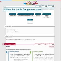 Utiliser les outils Google en classe