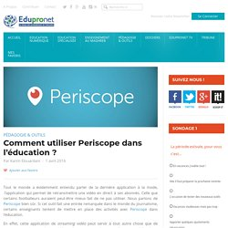Comment utiliser Periscope dans l'éducation ?