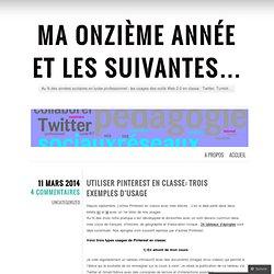 Utiliser Pinterest en classe: trois exemples d'usage