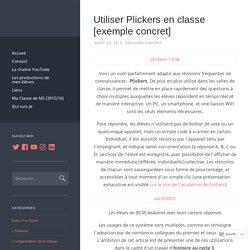 Utiliser Plickers en classe [exemple concret] – Un Prof D Z'écoles