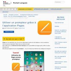 Utiliser un prompteur grâce à l'application Pages