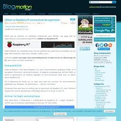 Utiliser un Raspberry Pi comme écran de supervision