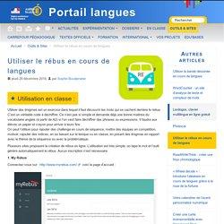 Utiliser le rébus en cours de langues