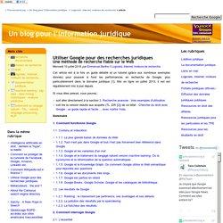 Utiliser Google pour des recherches juridiques
