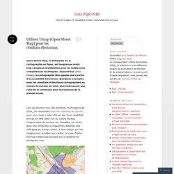 Utiliser Umap (Open Street Map) pour les résultats électoraux