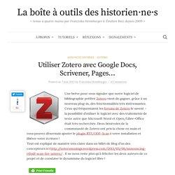 Utiliser Zotero avec Google Docs, Scrivener, Pages...