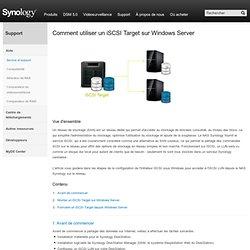 Tutorials - Serveur de stockage sur réseau (NAS) Synology Inc.