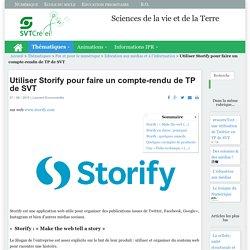 Utiliser Storify pour faire un compte-rendu de TP de SVT