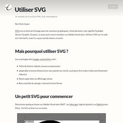 Utiliser SVG