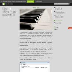 Utiliser sa tablette comme un clavier MIDI - HDready Graphic