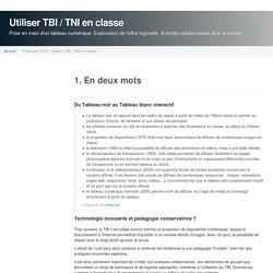 Utiliser TBI / TNI en classe