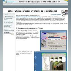 Utiliser Wink pour créer un tutoriel de logiciel animé