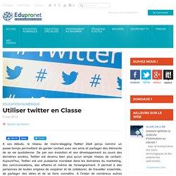 Utiliser twitter en Classe