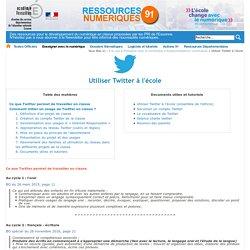 Utiliser Twitter à l'école