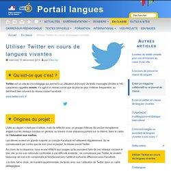 Utiliser Twitter en cours de langues vivantes