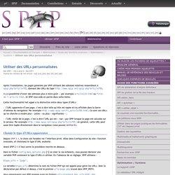 Utiliser des URLs personnalisées