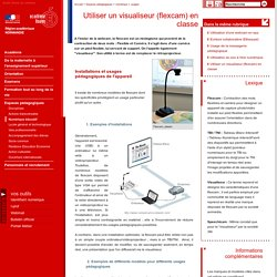 Utiliser un visualiseur (flexcam) en classe