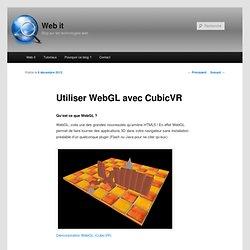 Utiliser WebGL avec CubicVR