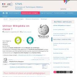 Utiliser Wikipédia en classe ? - STMS