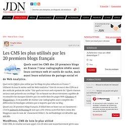Les CMS les plus utilisés par les 20premiers blogs français