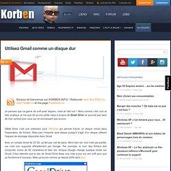 Utilisez Gmail comme un disque dur