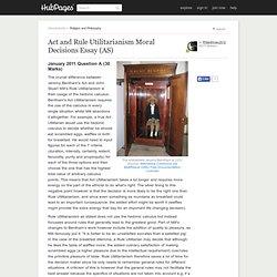 explain bentham's utilitarianism 30 marks Read this essay on explain bentham's principle of utility  of rule utilitarianism (30 marks) explain both  explain how bentham's utilitarianism can be.