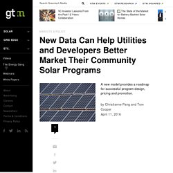 New Data Can Help Utilities and Developers Better Market Their Community Solar Programs