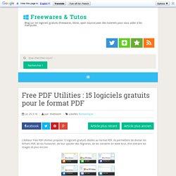 15 logiciels gratuits pour le format PDF