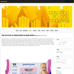 The Utilities of Arean wipes as baby wipes