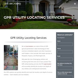 GPR Utility Locating