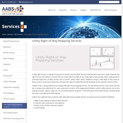 Utility Right of Way Mapping Services