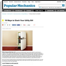 19 Ways to Slash Your Utility Bill