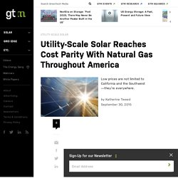 Utility-Scale Solar Reaches Cost Parity With Natural Gas Throughout America