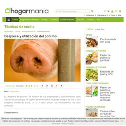 Despiece y utilización del porcino - Hogarmania