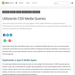 Utilizando CSS Media Queries
