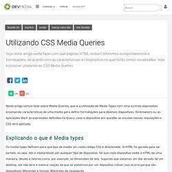 Utilizando CSS Media Queries
