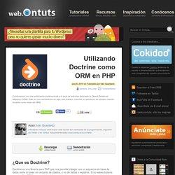 Utilizando Doctrine como ORM en PHP