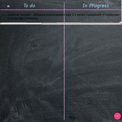 Jurnal de învățare - Utilizarea instrumentelor web 2.0 pentru comunicare și colaborare în proiectele eTwinning