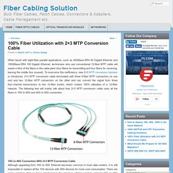 100% Fiber Utilization with 2x3 MTP Conversion Cable